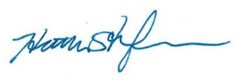 Honourable Heather Stefanson Signature